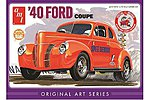 1940 Ford Coupe (Orange) -- Plastic Model Car Truck Vehicle Kit -- 1/25 Scale -- #850