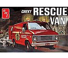 1975 Chevy Rescue Van (Red) -- Plastic Model Car Truck Vehicle Kit -- 1/25 Scale -- #851