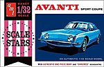 1963 Studebaker Avanti Sport Coupe -- 1/32 Scale -- Plastic Model Car Kit -- #885