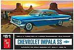 1961 Chevy Impala SS -- Plastic Model Car Kit -- 1/25 Scale -- #1013-12