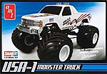 USA-1 4x4 Monster Truck w/Decals -- Plastic Model Monster Truck Kit -- 1/32 Scale