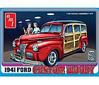 1941 Ford Woody -- Plastic Model Vehicle Kit -- 1/25 Scale -- #906-12