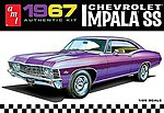 1967 Chevy Impala SS (Stock) -- Plastic Model Car Kit -- 1/25 Scale -- #981-12