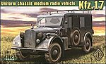 Kfz17 Uniform Chassis Medium Radio Vehicle -- Plastic Model Military Staff Kit -- 1/72 -- #72260