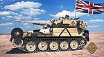 FV107 CVR Tracked Scimitar Tank w/30mm Rarden Gun -- Plastic Model Tank Kit -- 1/72 -- #72418