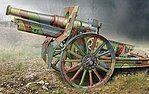 Cannon de 155C M1917 French Howitzer Gun -- Plastic Model Military Vehicle Kit -- 1/72 -- #72543
