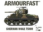 Sherman M4A2 75mm Tank (2) -- Plastic Model Tank Kit -- 1/72 Scale -- #99021