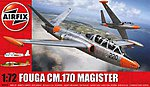Fouga Magister 2-Seater Twin-Jet Trainer -- Plastic Model Airplane Kit -- 1/72 Scale -- #3050