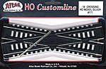 Code 100 19 Degree Crossing Track 6 CL N/S -- HO Scale Nickel Silver Model Train Track -- #171