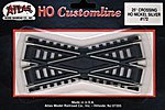 Code 100 25 Degree Crossing Track 4.25 CL N/S -- HO Scale Nickel Silver Model Train Track -- #172