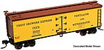 40' Wood Reefer Undecorated -- HO Scale Model Train Freight Car -- #20001465