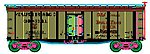 40' Wood Reefer Monarch #9904 -- HO Scale Model Train Freight Car -- #20003300