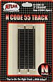 Code 55 3 Straight Track (3) -- N Scale Nickel Silver Model Train Track -- #2004