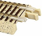 True-Track Roadbed Insulated Rail Joiners (12) -- N Scale Nickel Silver Model Train Track -- #2492