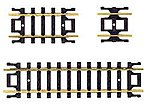 Code 80 Straight Track Assortment (10) -- N Scale Nickel Silver Model Train Track -- #2509