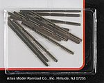 Code 80 Rail Joiners (48) -- N Scale Nickel Silver Model Train Track -- #2535