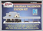 Suburban Passenger Station Kit -- N Scale Model Railroad Building -- #2841