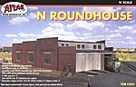 Roundhouse Kit -- N Scale Model Railroad Building -- #2843