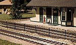Hairpin Style Fence -- N Scale Model Railroad Trackside Accessory -- #2850