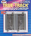 3 Straight True-Track (4) -- HO Scale Nickel Silver Model Train Track -- #452