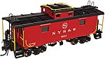 NE-6 Caboose NYSW #0114 -- N Scale Model Train Freight Car -- #50002515