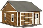 Kim's Classic Garage - Kit (Laser-Cut Wood) - pkg(2) -- HO Scale Model Railroad Building -- #735