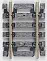 Straight Snap-Track(R) 1-1/2'' Black Ties pkg(4) -- HO Scale Nickel Silver Model Train Track -- #825