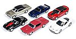 AutoWorld Diecast Set (6 Cars) -- Diecast Model Car -- 1/64 Scale -- #64001a