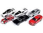 AutoWorld Diecast Set (6 Cars) -- Diecast Model Car -- 1/64 Scale -- #64003b