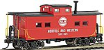 NE Steel Caboose Norfolk & Western Red #557707 -- HO Scale Model Train Freight Car -- #16817