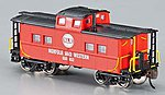 Northeast Steel Caboose Norfolk & Western -- N Scale Model Train Freight Car -- #16855