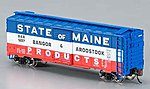 AAR 40' Steel Box Bangor & Aroostook -- N Scale Model Train Freight Car -- #17056