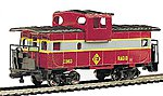 36' Wide Vision Caboose Erie Lackawanna -- HO Scale Model Train Freight Car -- #17728