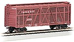 40' Stock Car Santa Fe -- HO Scale Model Train Freight Car -- #18502