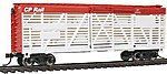 40' Stock Car Canadian Pacific Rail -- HO Scale Model Train Freight Car -- #18527
