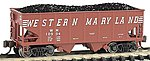 USRA 55T 2-Bay Hopper Western Maryland -- N Scale Model Train Freight Car -- #19552