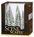 Pine Trees w/Snow 5-6 (6) -- Model Railroad Scenery -- #32002