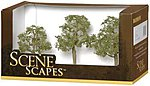 Elm Trees 3-4 (3) -- Model Railroad Scenery -- #32008