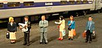 Standing Platform Passengers -- HO Scale Model Railroad Figure -- #33110