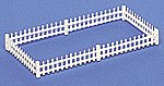 Picket Fence (24) -- HO Scale Model Railroad Building Accessory -- #42100