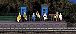 Sitting Passengers -- HO Scale Model Railroad Figure -- #42342