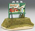 Billboard School Zone Drive Carefully -- O Scale Model Railroad Roadway Accessory -- #42602
