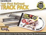 4x8' Hobby Track Pack w/DVD -- HO Scale Nickel Silver Model Train Track -- #44596