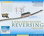 N/S E-Z Track Auto-Reversing System -- N Scale Nickel Silver Model Train Track -- #44847