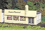 Supermarket Kit -- HO Scale Model Railroad Building -- #45141