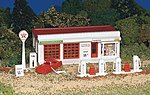 Gas Station Kit -- HO Scale Model Railroad Building -- #45174