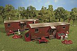 Railroad Work Sheds (2) -- HO Scale Model Railroad Building -- #45175