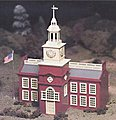 Town Hall Snap Kit -- O Scale Model Railroad Building -- #45614