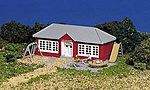 Schoolhouse w/Equipment Built-Up -- N Scale Model Railroad Building -- #45807