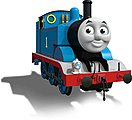 Thomas/Tank Engine w/Moving Eyes -- HO Scale Thomas-the-Tank Electric Car -- #58741